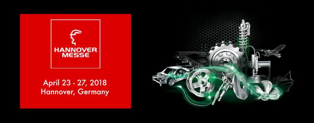 Abbiamo il piacere di informarvi che saremo presenti all'Hannover Messe 2018